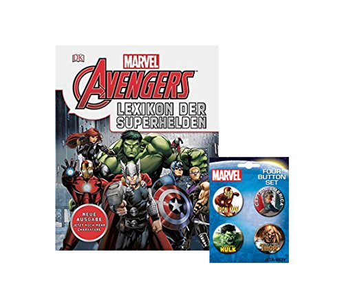 Marvel Avenger Kinder-Set | Lexikon der Superhelden + einen original Marvel (Superhelden Schurken Berühmte)