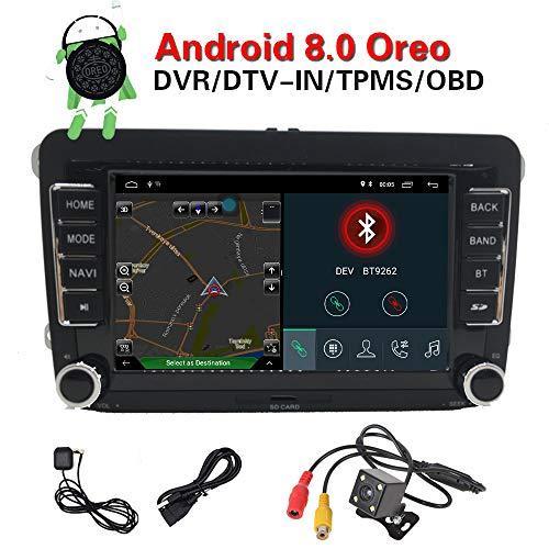 Android 8.0Sytem 2GB RAM 17,8cm navigazione GPS per auto radio multimediale WiFi per VW Golf Seat Skoda