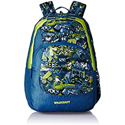 Wildcraft Polyester 31 Ltrs Blue School Backpack (Wiki 3 Punk 1)