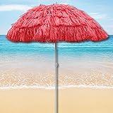 Red Outdoor Garden Hawaiian Parasol Beach Umbrella Tilting Sunshade Patio Hawaii
