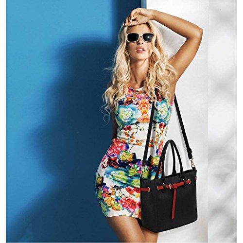 TrendStar Meine Damen Groß Umhängetaschen Frauen Konstrukteur Hand Taschen Leder Promi-Stil Neue Taschen Schwarz 1