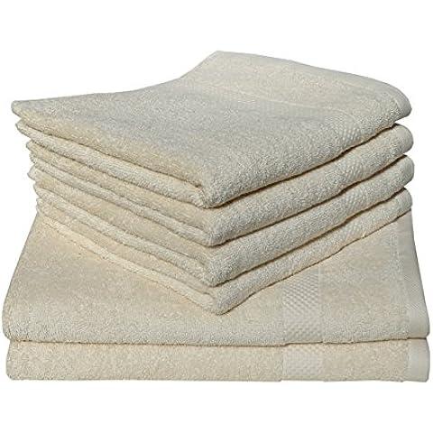 Dyckhoff Planet Uni bio Rizo Serie Manopla, toalla de invitados, toalla de mano, ducha, toalla, Alfombrilla de baño en diferentes colores, arena, Liegetuch 70 x 200