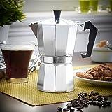Alu-Kaffeekanne für 3 Tassen | 3 Tassen Espressokocher | Moka | Kaffeebereiter Kaffeekocher[NORBERTBERKELEY]