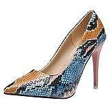 LILIGOD Frauen Fashion High Heels Spitze Party High Heels Sexy Elegant Pumps Stilettos Schlange Flacher Mund High Heels Sandalen Mode Stiletto Slip-On Single Schuhe