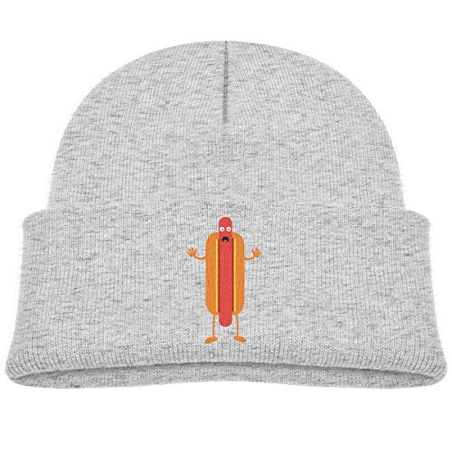 LLALUA Happy Hot Dog Beanie Cap Knit Hat Infant Gray - Infant Knit Beanie Orange