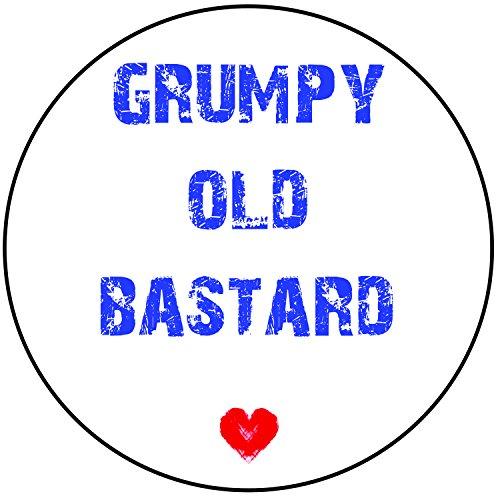 nittenen Rund 20,3cm (20cm) Zuckerguss Tortenverzierung–Grumpy Old Bastard (Ideen Halloween Decoracion)