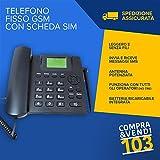 Compraevendi103 Teléfono fijo con tarjeta SIM Card GSM quandband de mesa sin Canon tim wind teclas grandes para personas mayores de manos libres