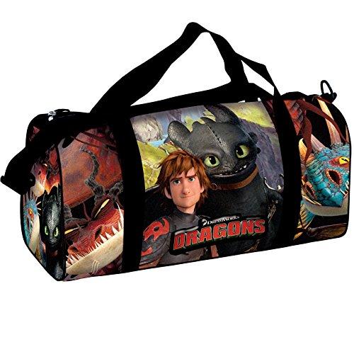 Dragons Sporttasche Tasche Kindersporttasche 50x23x22 Reisetasche Ohnezahn (11)