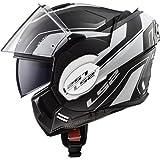 LS2 Motorradhelm VALIANT LUMEN Mat, Schwarz/Weiß, Größe M