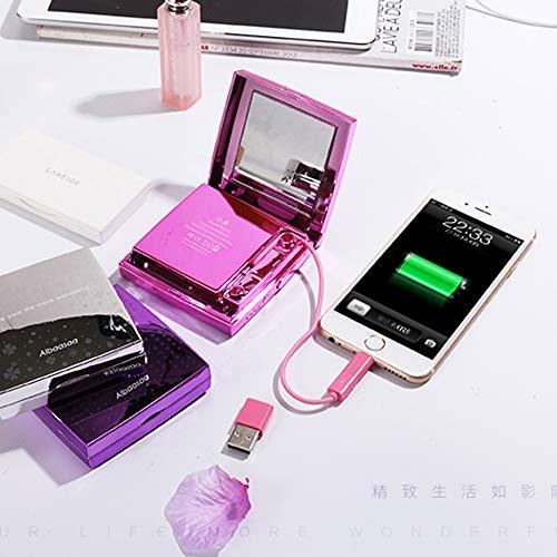 Make-Up Mirror Power Bank 6000 Mah Kosmetikspiegel, Tragbare Power Bank 6000Mah Make-Up-Spiegel,...