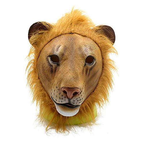 SQCOOL Halloween Horror Maske Lion Head Set Rollenspiel Fancy Dress Latex Material Lustige (Dress Für Paare Fancy Kostüme Best)