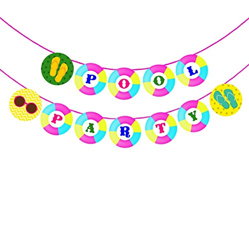 Party PropzTM Hawaiian,Pool Party,Summer Banner / Hawaiian,Pool Party,Summer Party Supplies / Hawaiian Party Decorations / Pool Party Party Supplies / Pool Party Banner for Birthday Party