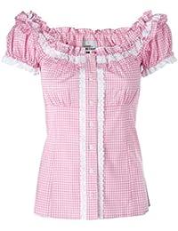 Ramona Lippert Bluse Trachtenbluse Laila rosa