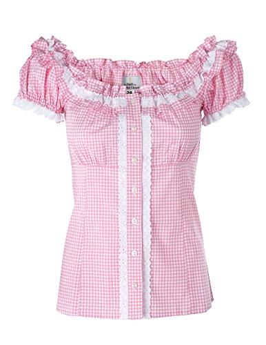 Ramona Lippert Bluse Laila rosa – Trachtenbluse für Damen – Damenbluse