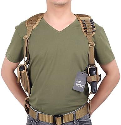 OneTigris Holster de hombro funda de pistola táctica con una bolsa de revista para los Tireurs diestros)