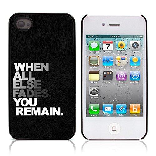 Graphic4You Life Teaches Us To Make Good Use of Time... Zitat Design Harte Hülle Case Tasche Schutzhülle für Apple iPhone 4 und 4S Design #12