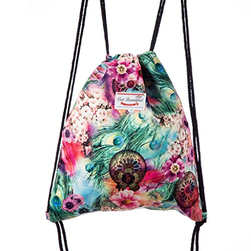 Lady Donovan - bolso impreso bolsa de yute bolsa de deporte bolsa de yute Hipster - prado de flores