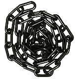 Mr. Chain Kunststoff-Absperrkette, 3,8cm großer Durchmesser, 50 feet Length, Schwarz, 1