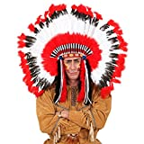 Indianer Federschmuck Häuptling Kopfschmuck Squaw Federhaube Feder Perücke Western Kopfbedeckung Mottoparty Haarschmuck