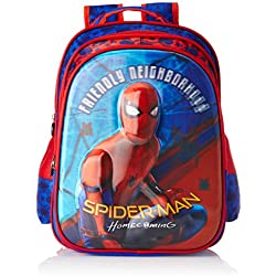 Spiderman Polyester Blue School Bag (Age group :6-8 yrs)