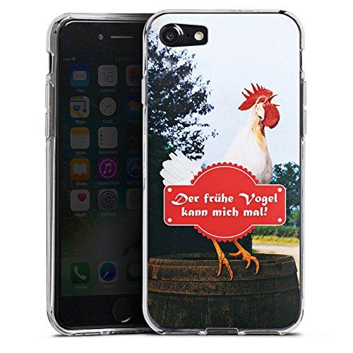 Apple iPhone X Silikon Hülle Case Schutzhülle frühe Vogel Hahn Landleben Silikon Case transparent