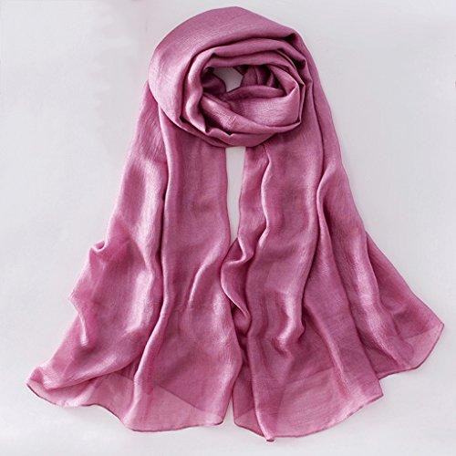 serviette de plage Pure Color Coton Et Linge Multicolore Écharpe À Long Pénal Écharpe Écharpe ( Couleur : #6 ) #10