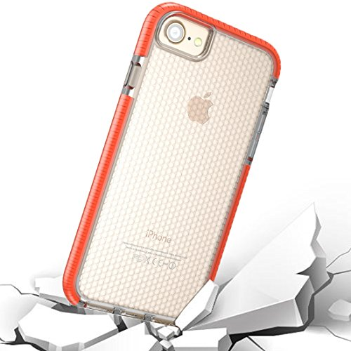 GHC Cases & Covers, Für iPhone 8 & 7 & 6, Basketball Textur Anti-Kollision TPU Schutzhülle zurück Fall ( Color : Orange )