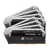 Corsair Dominator Platinum - Módulo de memoria XMP 2.0 de alto rendimiento de 64 GB (8 x 8 GB, DDR4, 2400 MHz, C14)