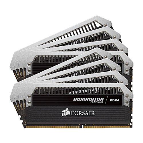 Corsair CMD64GX4M8A2666C15 Dominator Platinum Kit di Memoria per Desktop a Elevate Prestazioni, DDR4 64 GB, 8 x 8 GB, 2666 MHz, Nero