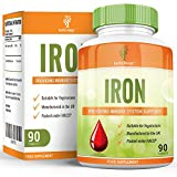 Iron Supplement - The Recommended Daily Allowance - Suitable for Vegetarians - 90 Tablets (3 Month Supply) by Earths Design