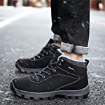 UBFEN Mens Womens Snow Boots Winter Warm Plush Booties Outdoor Sports Walking Hiking High Top Shoes 17
