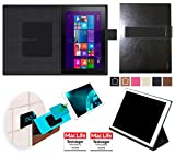 reboon Hülle für Acer Aspire Switch 10E Tasche Cover Case Bumper | in Schwarz Leder | Testsieger