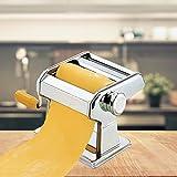 FRX Hochwertige Edelstahl Nudelmaschine 7 Nudelstärken Manuell Pastamaschine...
