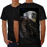 La nature Animal Aigle Oiseau Furieux faucon Œil Homme L T-shirt le dos | Wellcoda