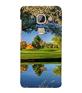 For LeEco Le 2s :: LeEco Le 2 Pro :: LeTV 2 Pro :: Letv 2 :: LeEco Le 2 Tree, Blue, Pond, Beautiful Pattern, Printed Designer Back Case Cover By CHAPLOOS