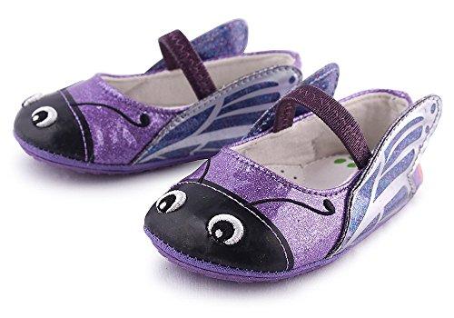 Cartoonimals Babyschuhe Mädchen Jungen Neugeborene Weiche Rutschsicheren Baby Kinder Schuhe Butterfly Purple