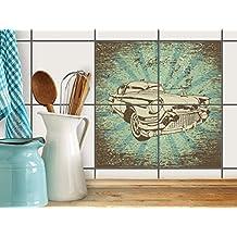 Creatisto Fliesen Aufkleber Folie Sticker Selbstklebend   Fliesentattoo  Dekosticker Küche Renovieren Bad Küchen Ideen  