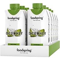 foodspring CocoWhey mit Kokosnuss, 12x330ml, Erfrischender Protein-Drink mit Kokoswasser, Hergestellt in Deutschland mit sorgfältig ausgewählten Rohstoffen