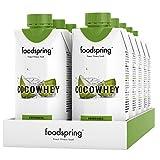 foodspring CocoWhey pacchetto da 12, Noci di cocco, 12x330ml,Il drink proteico isotonico