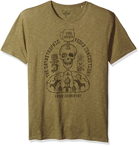 lucky-brand-t-shirt-uomo-burnt-olive-xl-us-taglia