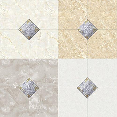 Home Decor Selbstklebende PVC Fliesen Aufkleber Wohnzimmer Küche Badezimmer Wand Boden Dekorative Aufkleber 60 Stück (STD014, 12X12cm) - Dekorative Wand-fliesen
