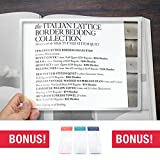 MagniPros MagniPros Large Full Page 11inch x 8.5inch Rigid Acrylic Magnifying Lens 2X(Enlarge 200%)- Ideal for Reading Small Prints & Low Vision Aids