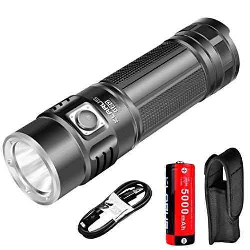 Taschenlampe Akku der led, KLARUS G20Laterne Akku des USB der Taschenlampe des LED 3000Lumen LED Laterne Doppel der Schalter by somesun, schwarz