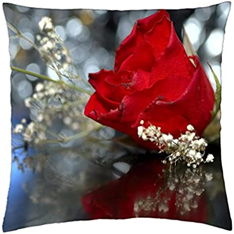 Red Wedding Rose - Throw Pillow Cover Case (18