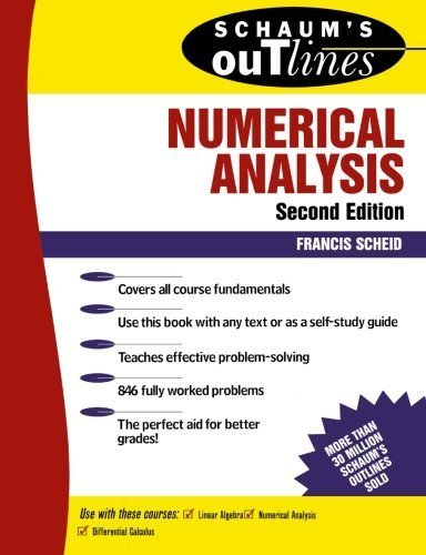 Schaum's Outline of Numerical Analysis (Schaum's Outline Series) by Scheid, Francis (1988) Paperback