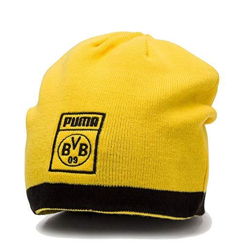 PUMA BVB Reversible Mütze, Black/Cyber Yellow, OSFA