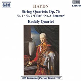 String Quartet No. 60 in G major, Op. 76, No. 1, Hob.III:75: III. Menuetto: Presto