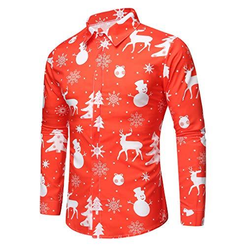 Camisa Navidad Liquidación Camisas Hombre Manga Larga