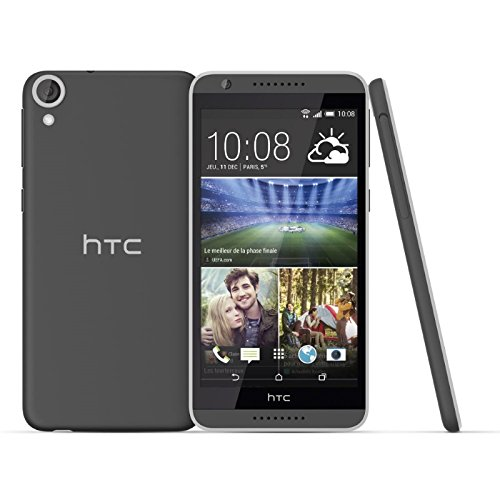 HTC 99HABV008-00 Desire 820 Smartphone (13,9 cm (5,5 Zoll) Display, 1,5GHz Prozessor, 2GB RAM, 16GB interner Speicher, Android 4.4) tuxedo grau (16 Tuxedo)