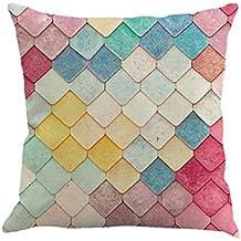 Winwintom Geometría pintura lino funda de Cojin almohada caso sofá Home Decor (Color B)